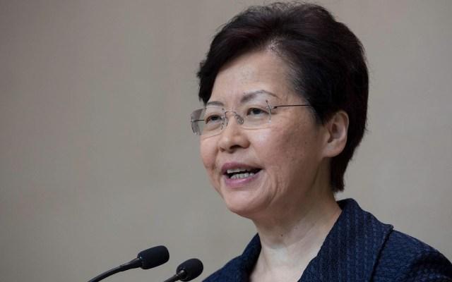 """Gobierno de Hong Kong anuncia """"plataforma de diálogo"""" ante protestas - Carrie Lam Hong Kong"""