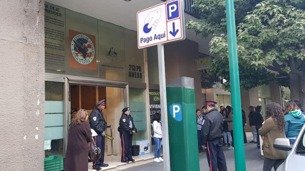 Embajada de EE.UU. en México alerta por estafas para tramitar visa - Centro de Atención a Solicitantes de la embajada de EE.UU. en México. Foto de Luis Goico / Google Maps