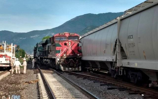 Error humano provoca choque de trenes en Veracruz - choque de trenes orizaba veracruz