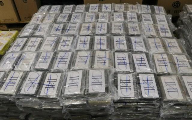 Hallan en Alemania 4.5 toneladas de cocaína en barco mercante - Cocaína en bolsas de deportes. Foto de EFE