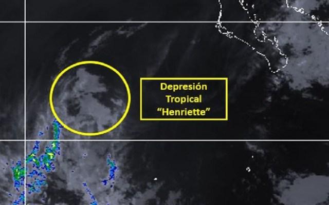 Henriette se degrada a depresión tropical en el Pacífico - Depresión tropical Henriette. Foto de Conagua