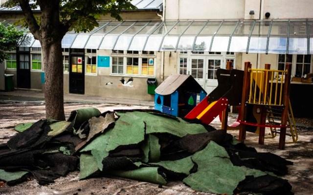 Renovarán patios de cuatro escuelas tras incendio en Notre-Dame - patios escuelas parisinas