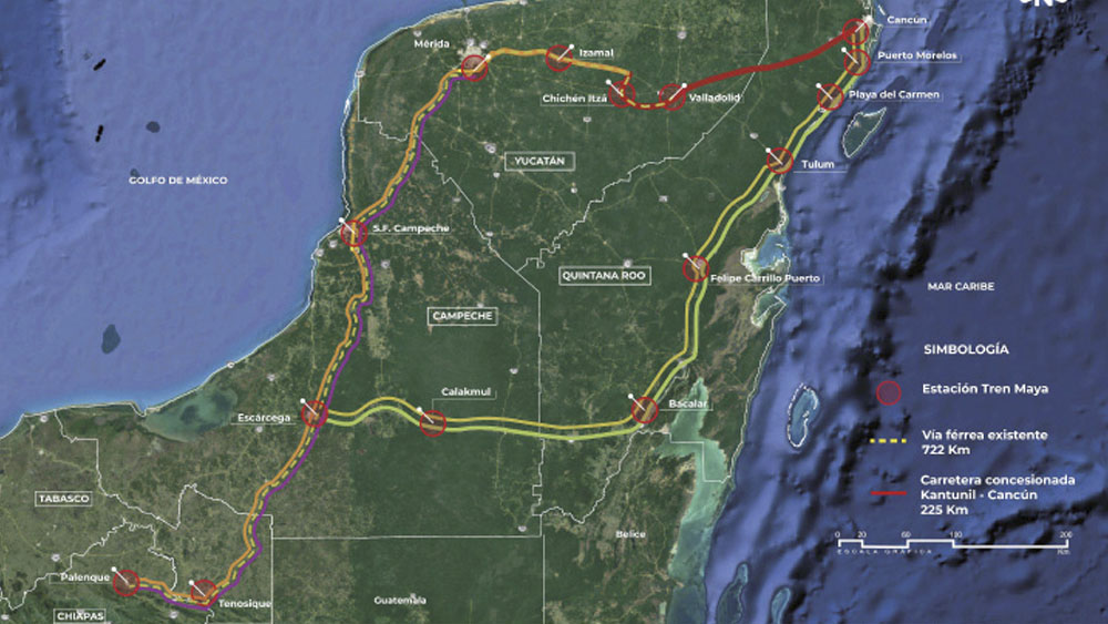 Suman tres estaciones a Tren Maya - estaciones tren maya