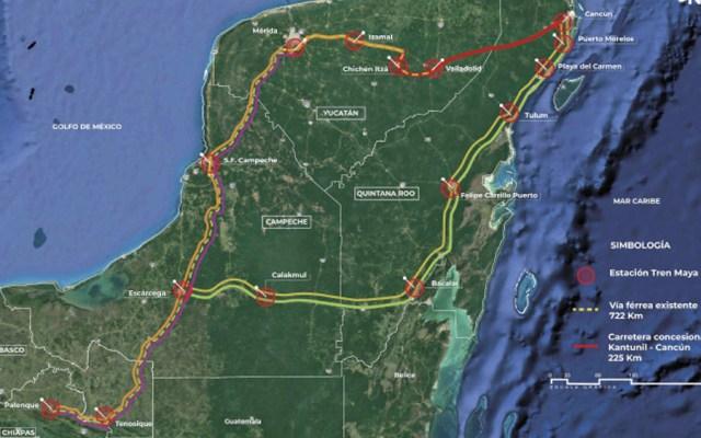 Conceden suspensión a obras del Tren Maya en Campeche - estaciones tren maya
