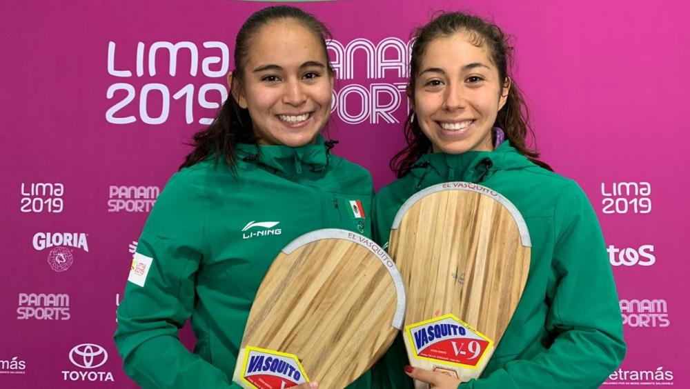 Mexicanas ganan tercera medalla de oro en Pelota Vasca - frontón oro mexico panamericanos
