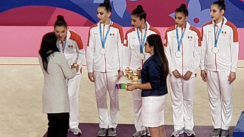 Gimnasia de conjunto con tercera medalla, ahora de plata, en Lima 2019 - Foto de @CONADE