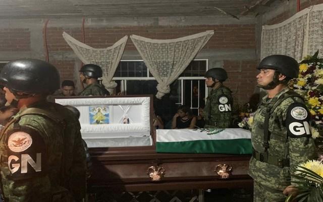 Despiden en Oaxaca a teniente de la Guardia Nacional abatido en Guanajuato - Guardia Nacional Oaxaca despiden