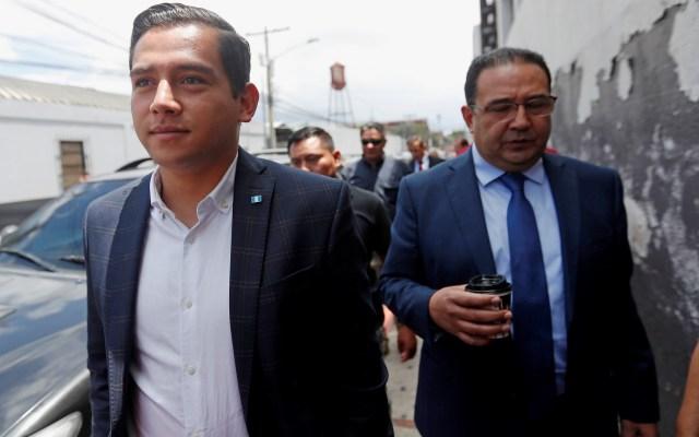 Absuelven de fraude a hijo y hermano de Jimmy Morales - José Manuel y Samuel Morales, hijo y hermano de Jimmy Morales. Foto de EFE