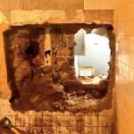 Destroza pared y roba banco en San Luis Potosí