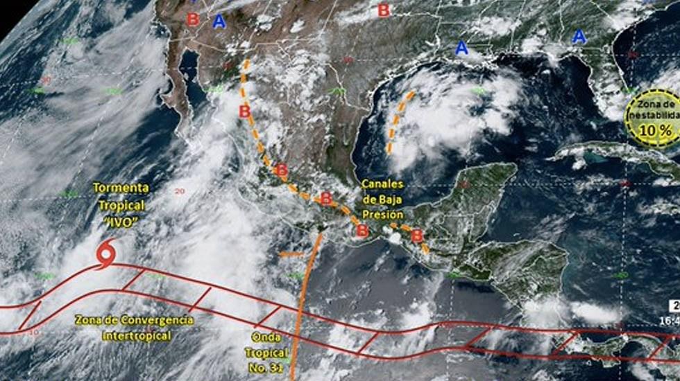 'Ivo' seguirá provocando lluvias y vientos en el noroeste del país - Ivo tormenta tropical Conagua