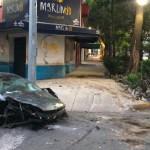 Destroza Lamborghini en la Roma y se da a la fuga