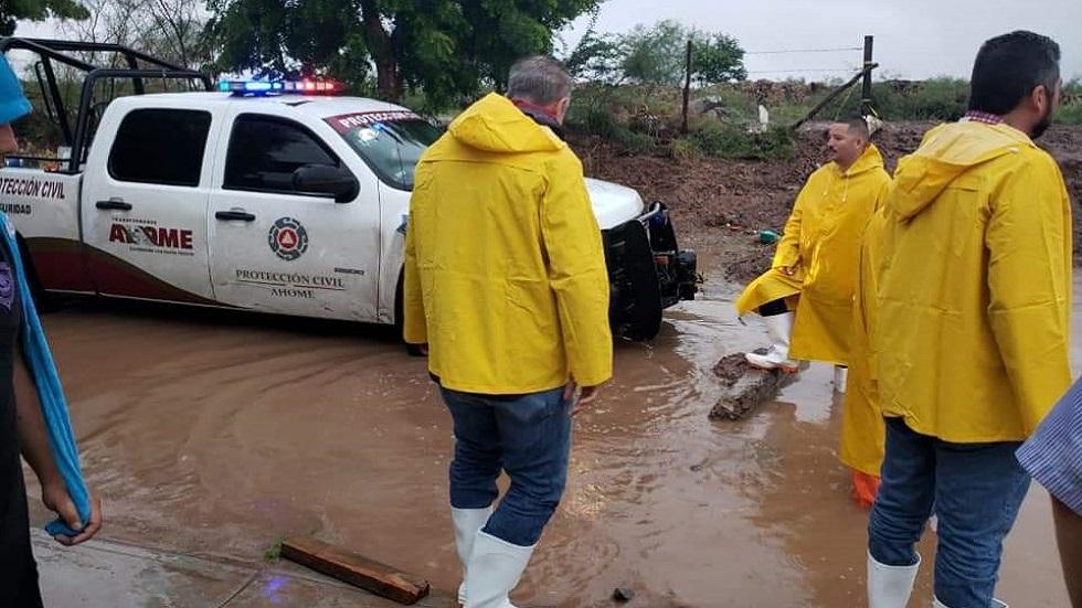 Suspenden clases en siete municipios de Sinaloa por lluvias - Lluvias en Sinaloa. Foto de Protección Civil
