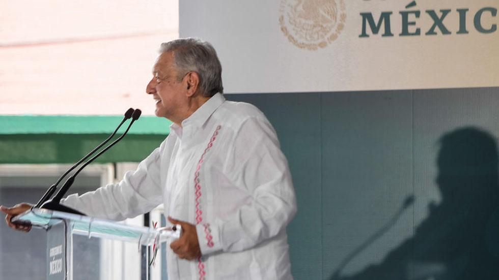 López Obrador anuncia reunión con presidente electo de Guatemala - López Obrador en Miahuatlán, Oaxaca. Foto de lopezobrador.org.mx