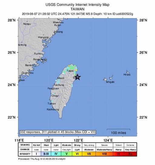 Al menos un muerto en un terremoto en Taiwán