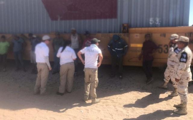 Aseguran a 78 migrantes en tren de carga en Sonora - migrantes sonora sspc