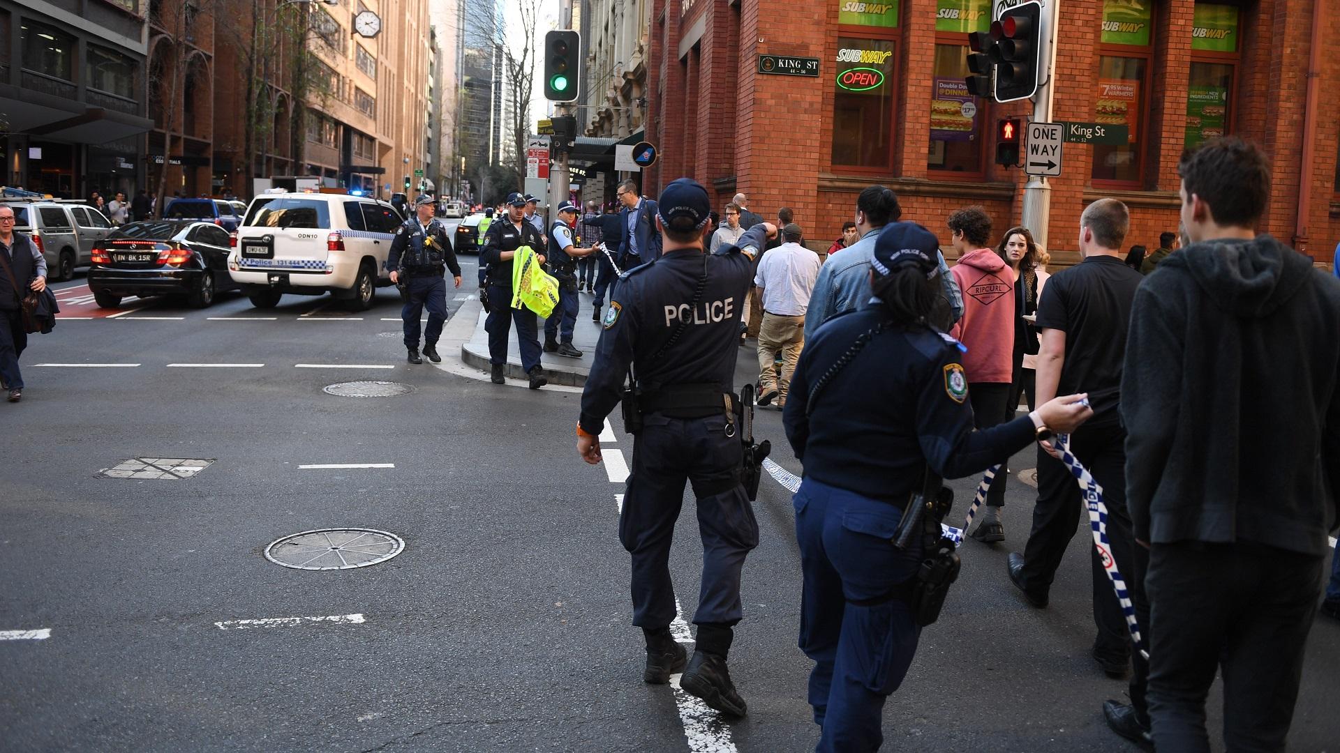 Movilización policiaca por apuñalamiento en Australia. Foto de EFE