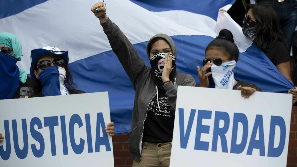 """Oposición protesta por una """"Navidad sin presos políticos"""" en Nicaragua - Foto de EFE"""