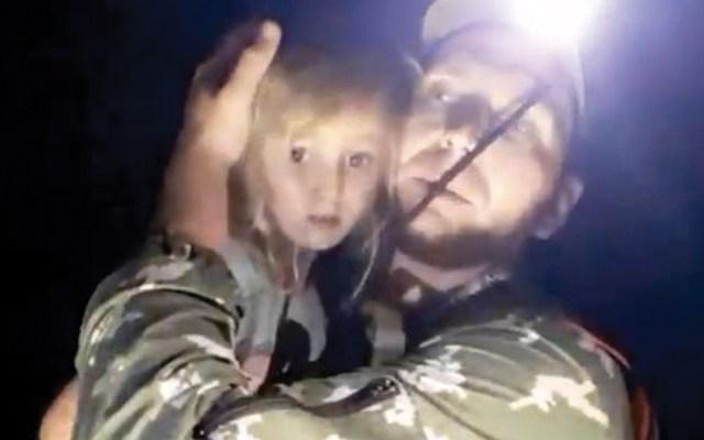 Rescatan a niña rusa que se perdió en bosque - Captura de pantalla