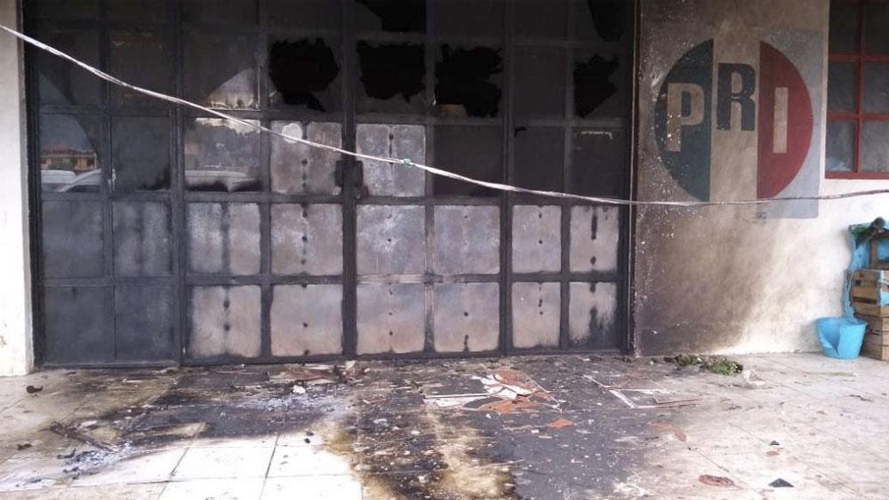 Vandalizan oficinas de comité del PRI en Chiapas - oficinas pri chiapas