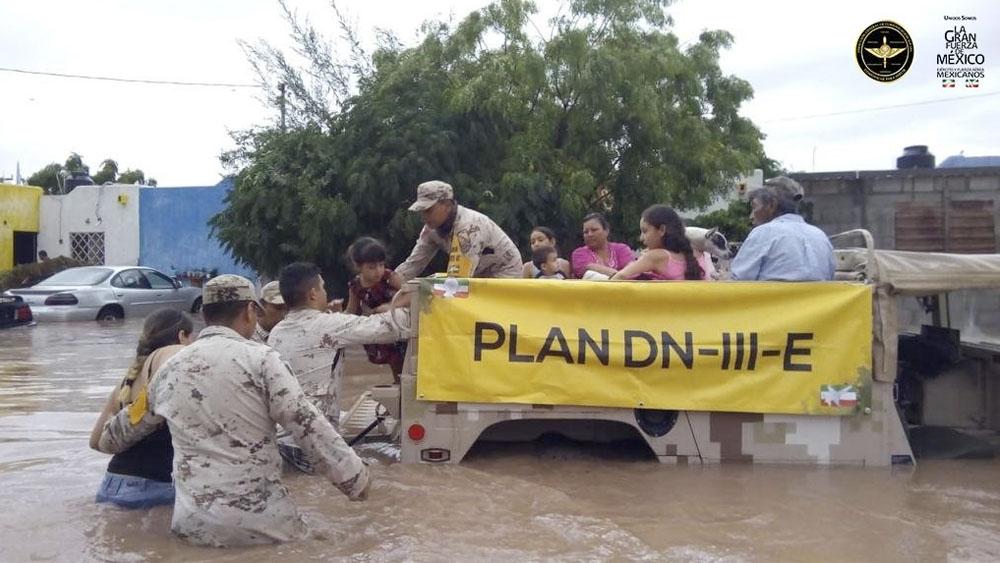 Sedena aplica Plan-DN-III-E en Baja California Sur tras lluvias. Noticias en tiempo real