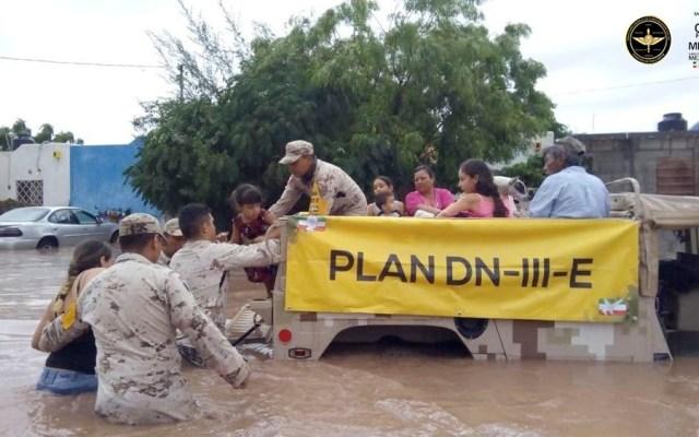 Sedena aplica Plan-DN-III-E en Baja California Sur tras lluvias - Plan-DN-III-E bcs