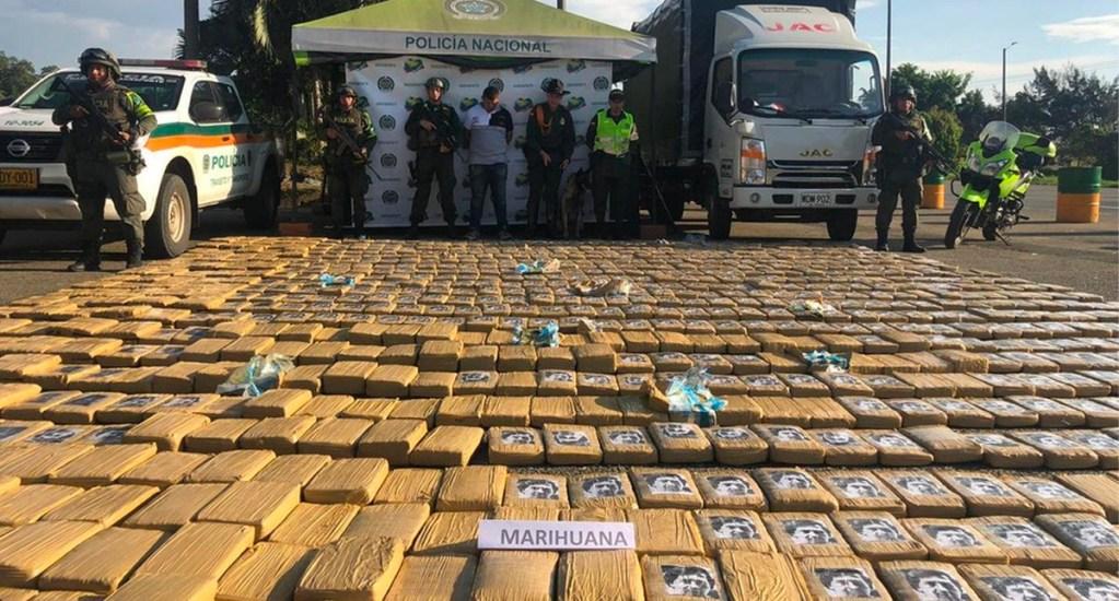 Incautan 1.6 toneladas de mariguana marcada con caras de Escobar y Bin Laden. Noticias en tiempo real