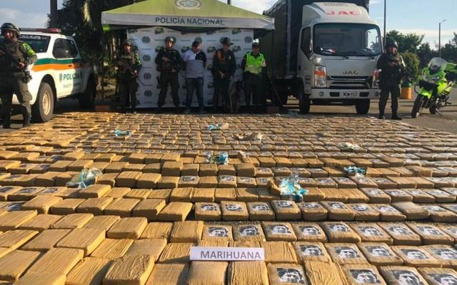 Incautan 1.6 toneladas de mariguana marcada con caras de Escobar y Bin Laden - mariguana