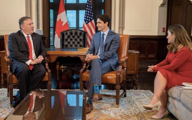 EE.UU. reconoce liderazgo de Trudeau para solucionar crisis en Venezuela - Pompeo Justin Trudeau reunión Canadá Estados Unidos