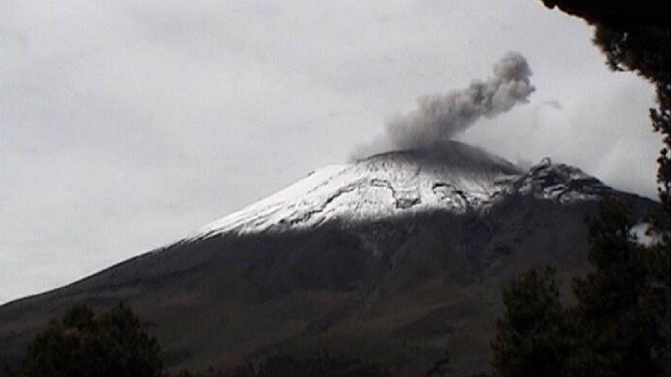 Se eleva actividad del volcán Popocatépetl con 209 exhalaciones - Popocatépetl 13 de agosto de 2019. Foto de Cenapred
