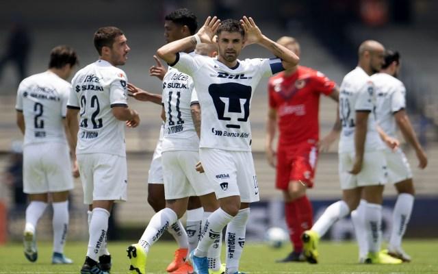 Pumas vence sin problemas 2-0 a Veracruz - pumas vence a veracruz