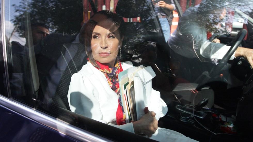 Rosario Robles pide 'humildemente' enfrentar proceso en libertad - Llegada de Rosario Robles a su audiencia de vinculación a proceso. Foto de Notimex