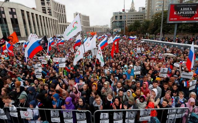 Protestan miles de moscovitas para exigir elecciones libres - protesta
