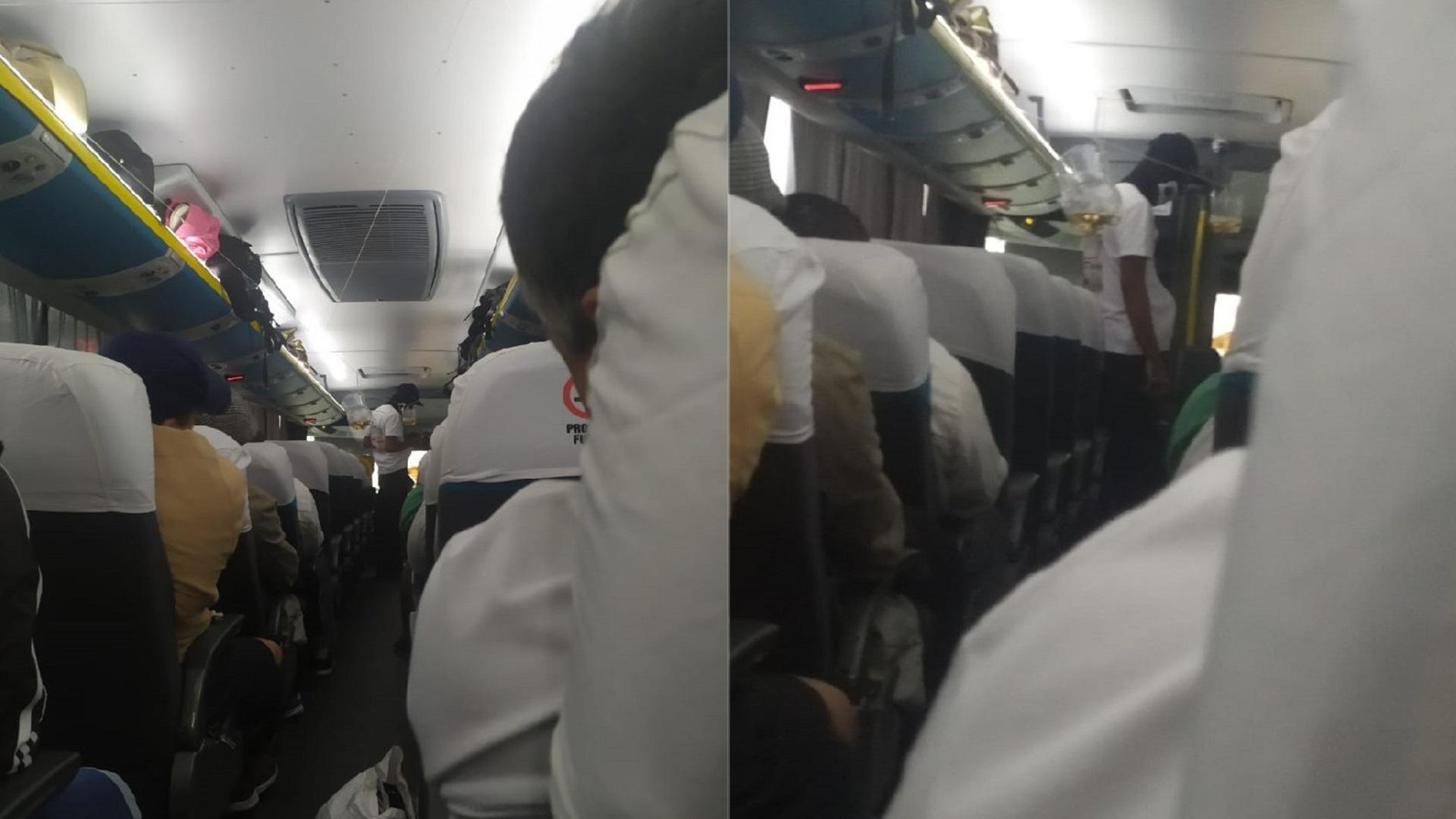 Secuestrador a bordo de autobús en Río de Janeiro. Foto de @BetinhoCasas