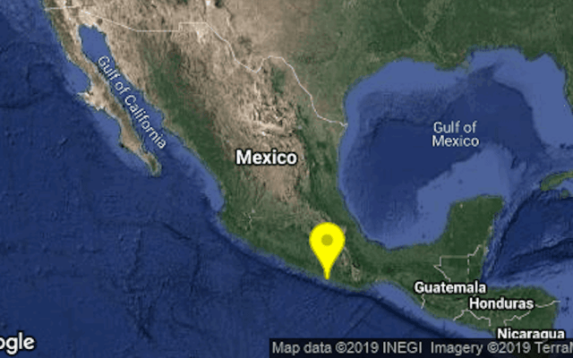Sismo magnitud 4.7 despierta a México - Lugar del epicentro del sismo. Foto de @SismologicoMX