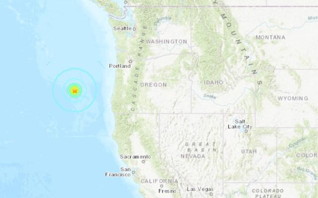 Sismo de 6.3 sacude costas de EE.UU., cerca de Oregon - sismo
