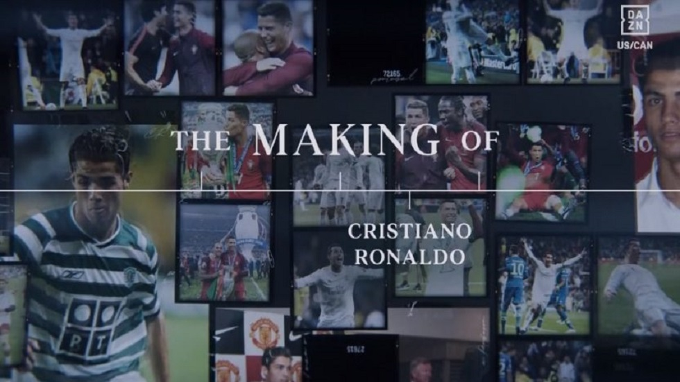 The making off Cristiano Ronaldo. Foto de DAZN