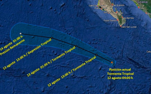 Se forma laTormenta Tropical 'Henriette' al suroeste de BCS - Tormenta Tropical Henriette