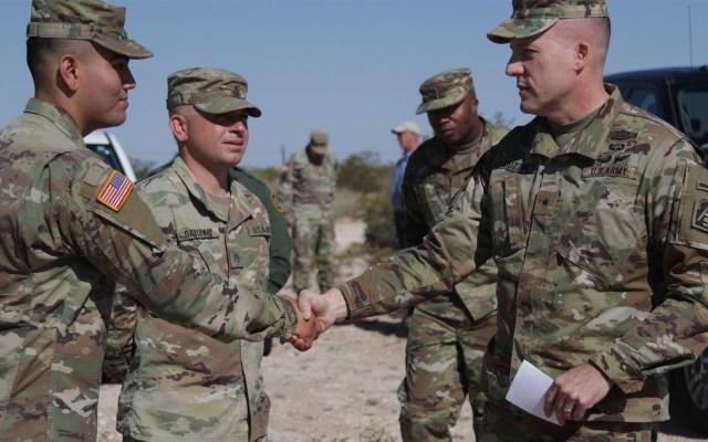 Soldados desplegados en frontera sur de EE.UU. recibirán medalla - Tropas Estados Unidos solados militares frontera Nuevo México medalla