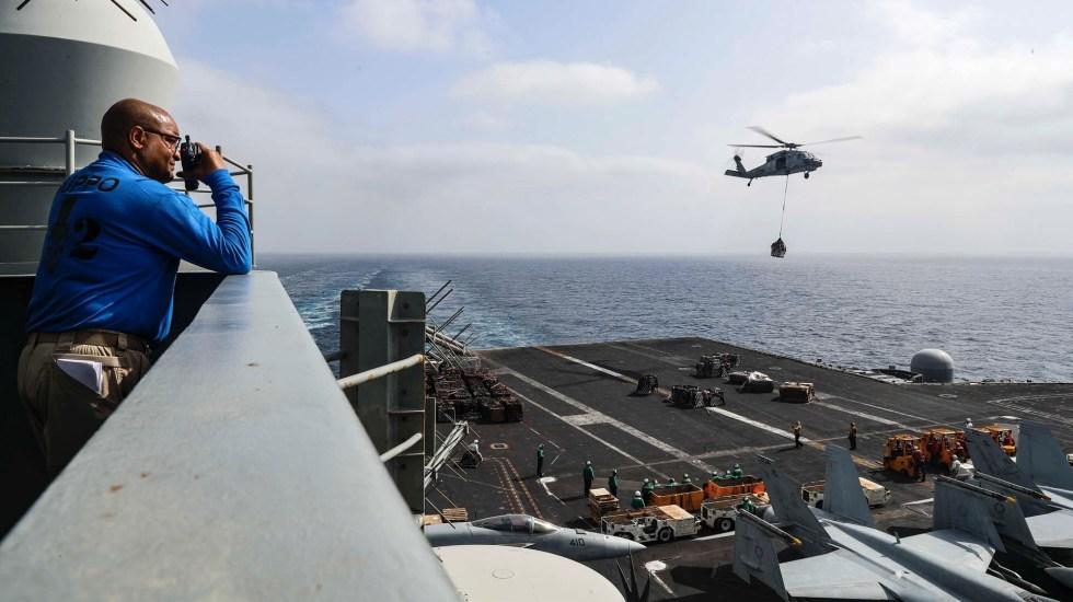 EE.UU. arranca operación para proteger las rutas en golfo Pérsico - USS Abraham Lincoln portaaviones