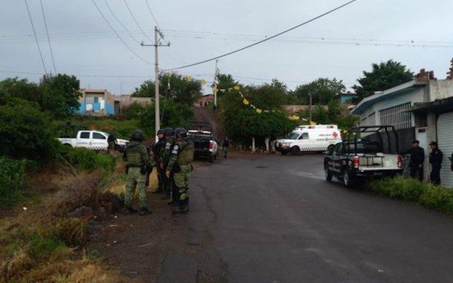 Seguridad es nuestra asignatura pendiente: López Obrador - Elementos de la Guardia Nacional en Yuriria, Guanajuato. Foto Especial.
