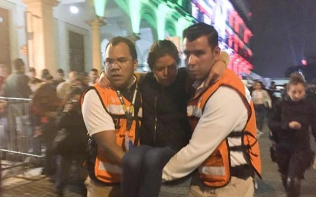 Accidente con pirotecnia deja 16 lesionados durante Grito en Xalapa - accidente grito xalapa veracruz