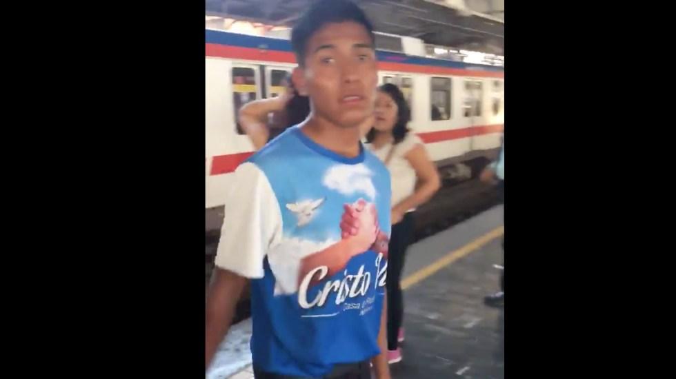 #Video Joven denuncia acoso en Metro de Monterrey - Captura de pantalla