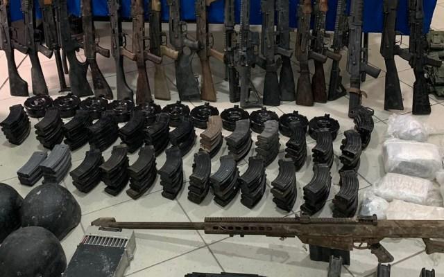 Decomisan arsenal con 36 armas largas y un lanzagranadas en Reynosa - Arsenal armas decomisado Reynosa 3