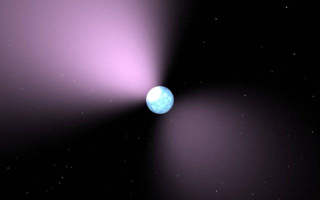Detectan la estrella de neutrones más gigantesca del universo - Arte conceptual de un púlsar. Foto de SA / JPL-Caltech / NASA