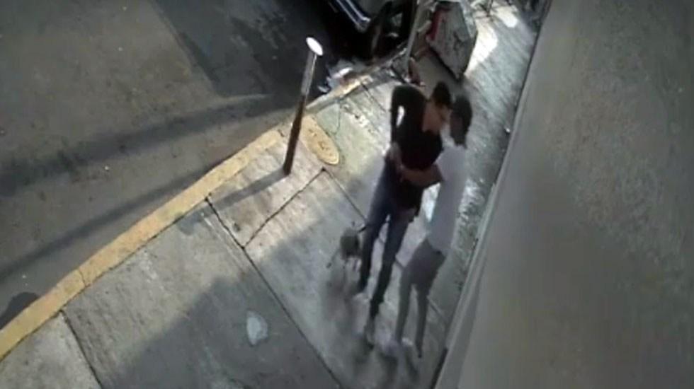 #Video Asaltante apuñala a joven en la colonia Ramos Millán - Asalto en la Ramos Millán. Captura de pantalla