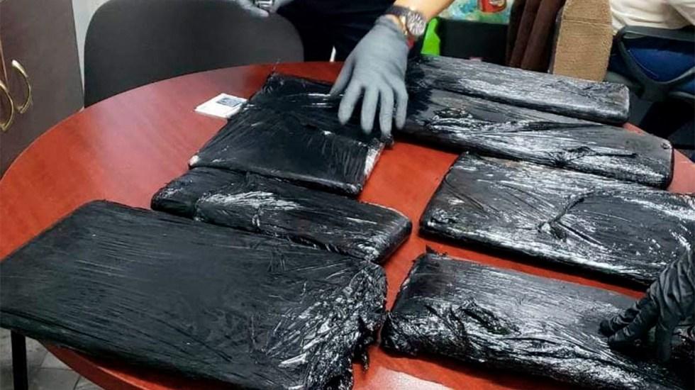 Aseguran maleta con más de 10 kilos de cocaína en el AICM - aseguran maleta con 10 kilos de cocaína en el aicm