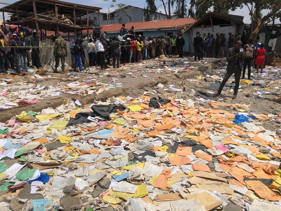 derrumbe escuela Nairobi, Kenia