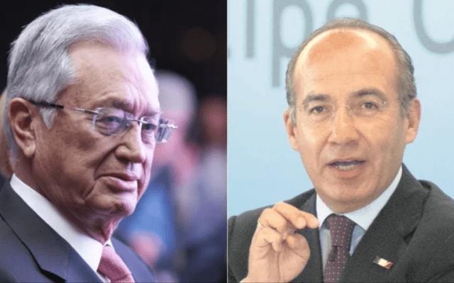 """Bartlett a Calderón: """"deje de decir salud""""; el expresidente responde: """"es mi dinosaurio favorito"""" - Manuel Bartlett (Izq.), y Felipe Calderón (Der.). Foto de Archivo"""