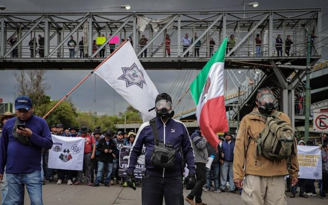 No se usará la fuerza contra policías federales inconformes: Durazo - Foto de Notimex
