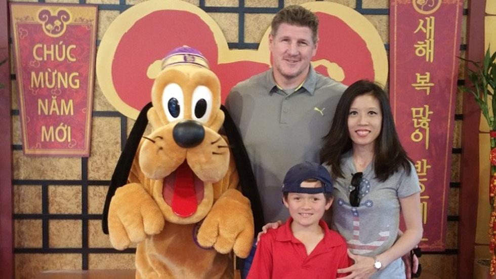 Brian Turk con su familia. Foto de GoFundMe